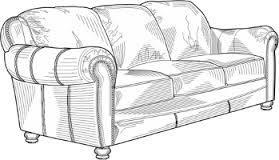 desenho de um sofá